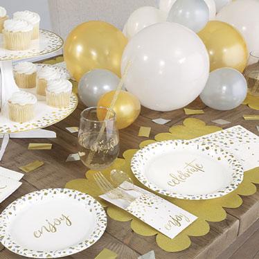 Confetti Gold Celebrate Party Supplies