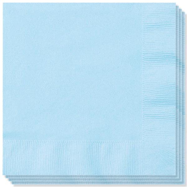 Babyblå Servietter - Pakke med 100