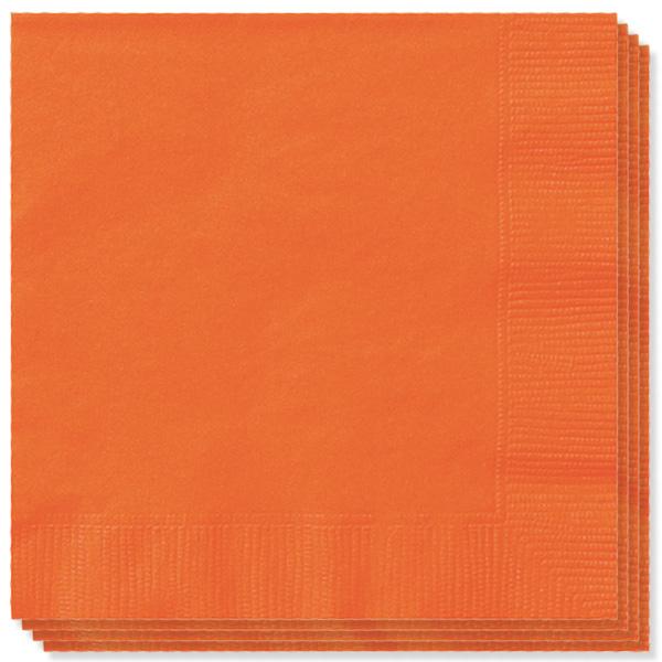 Orange Servietter - Pakke med 100