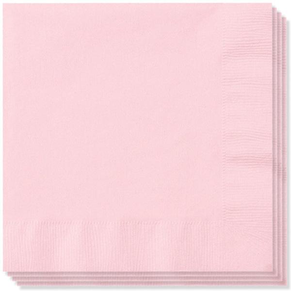 Lyserøde Servietter - Pakke med 100