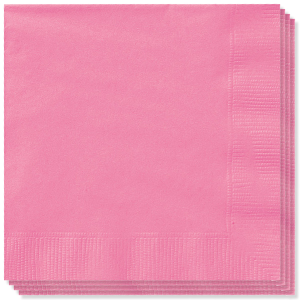 Pink Servietter - Pakke med 20