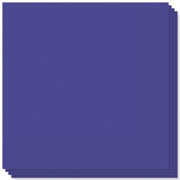 Store Mørkelilla Servietter - Pakke med 20