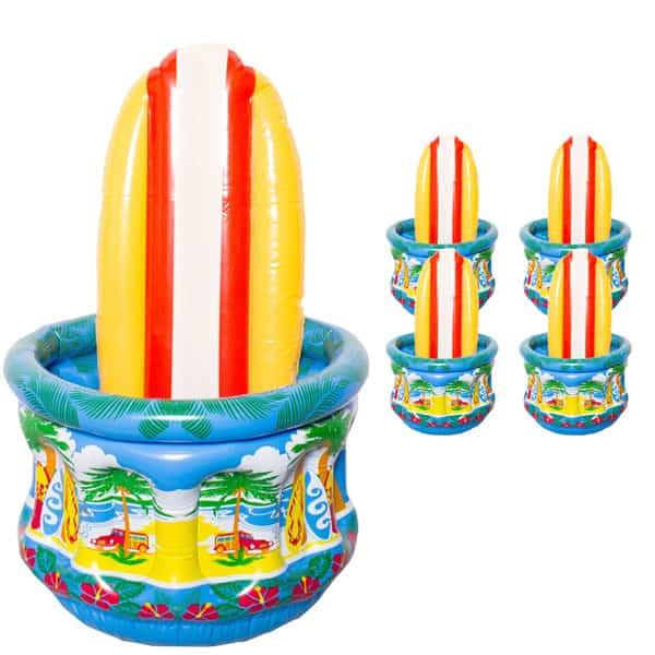 Oppustelig Surfboard Bord Cooler - Pakke med 5