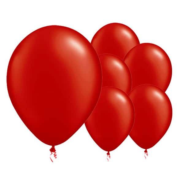 Røde Latexballoner - Pakke med 8