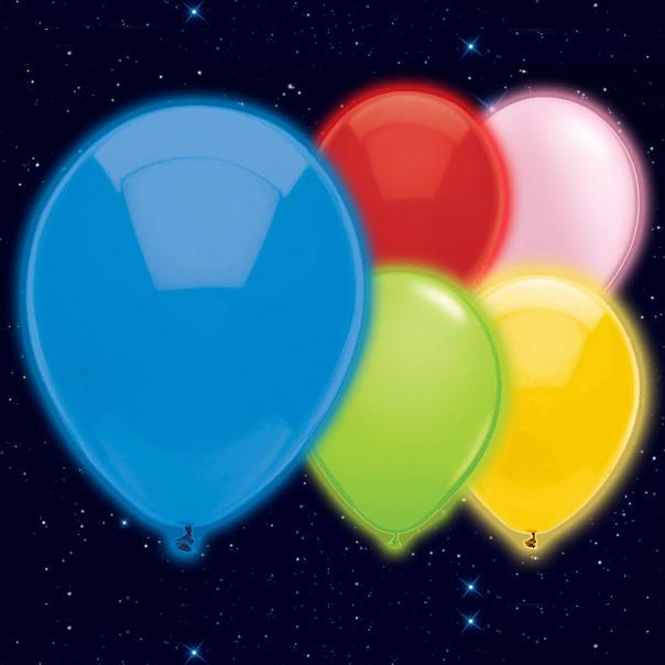 Selvlysende Forskellige Farver Illoom Ballon - Pakke med 5