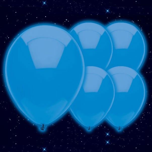 Selvlysende Blå Illoom Ballon - Pakke med 5