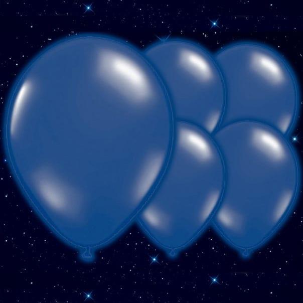 Selvlysende Mørkeblå Illoom Ballon - Pakke med 5