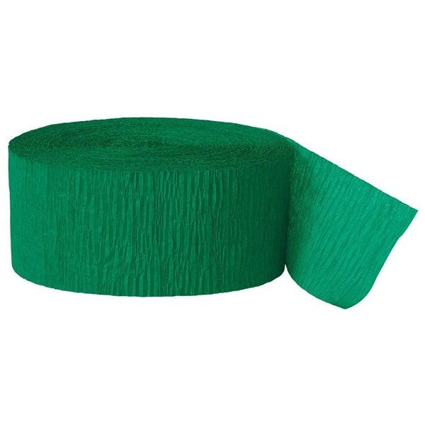 Grønt Crepebånd Rulle - Single