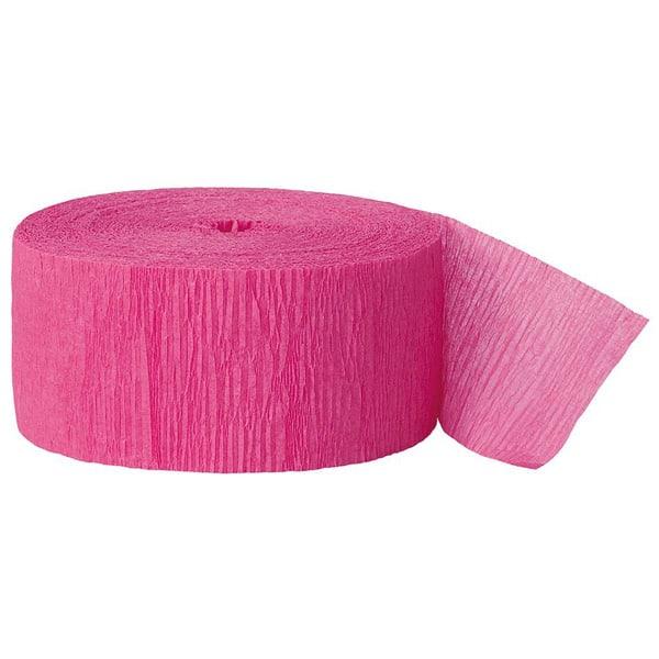 Pink Crepebånd Rulle - Single