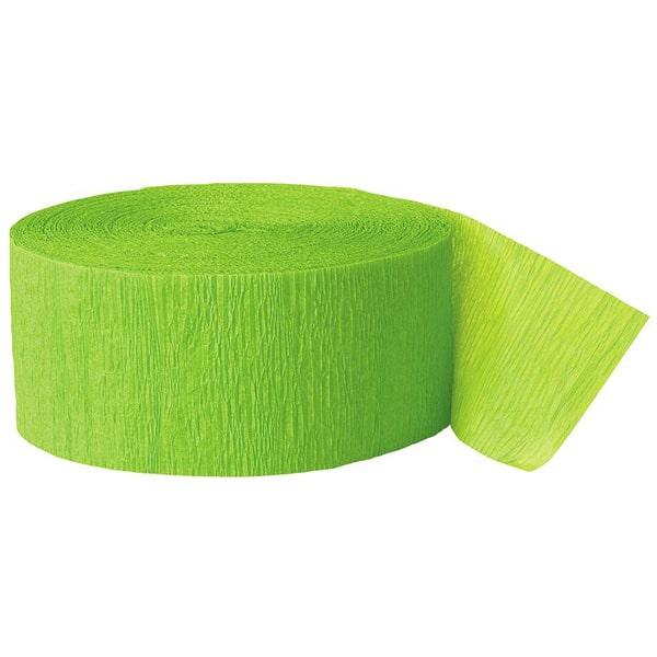 LimeGrønt Crepebånd Rulle - Single