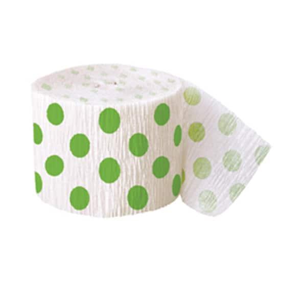 Lime Grøn med Prikker Crepe Papir - Single