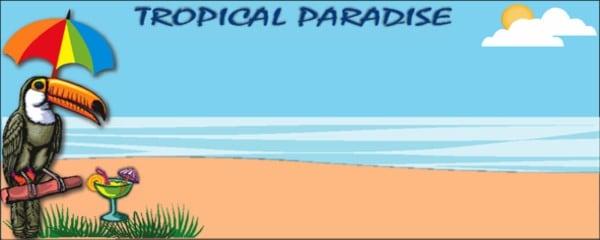 Hawaii Tema Bannere med Eget Design