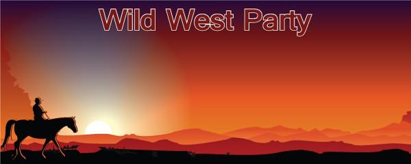 Vilde Vesten Cowboy Bannere med Egen Tekst