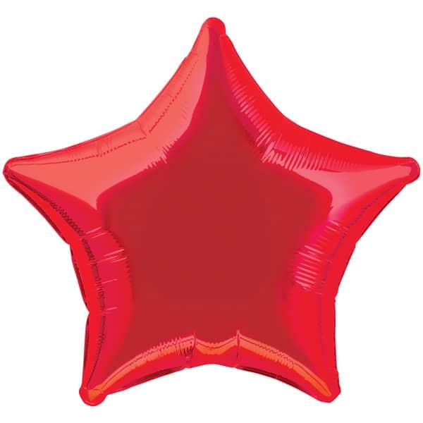 Rød Stjerne Folieballon - Single
