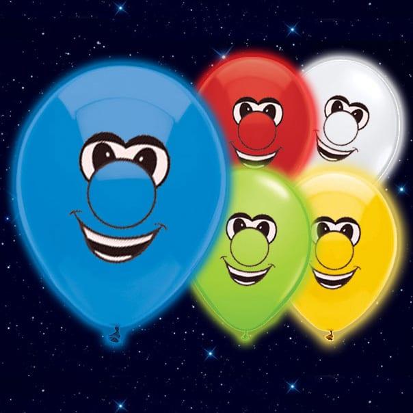 Selvlysende Smiley Illoom Ballon - Pakke med 5