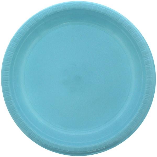 Lyseblå Plastik Tallerken - Single