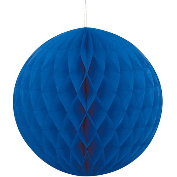 Blå Vaffelmønster Kugle Dekoration - Single
