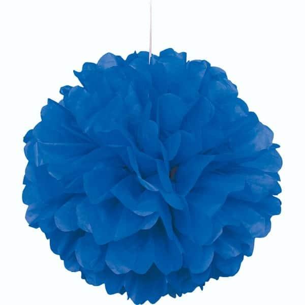 Blå Vaffelmønster Kvast Dekoration - Single