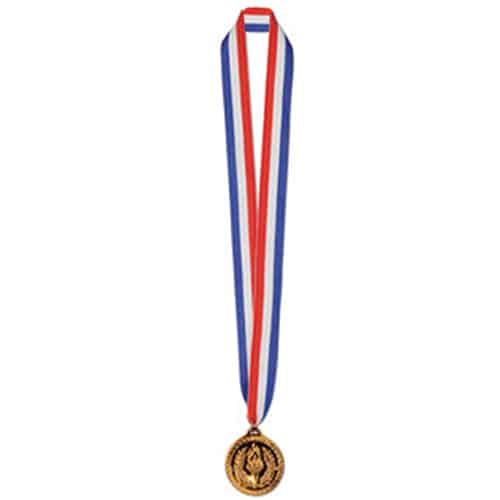 Bronze Medalje m. Stofsnor - Pakke med 12