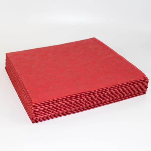 Mørkerøde Papirsduge - Pakke med 25