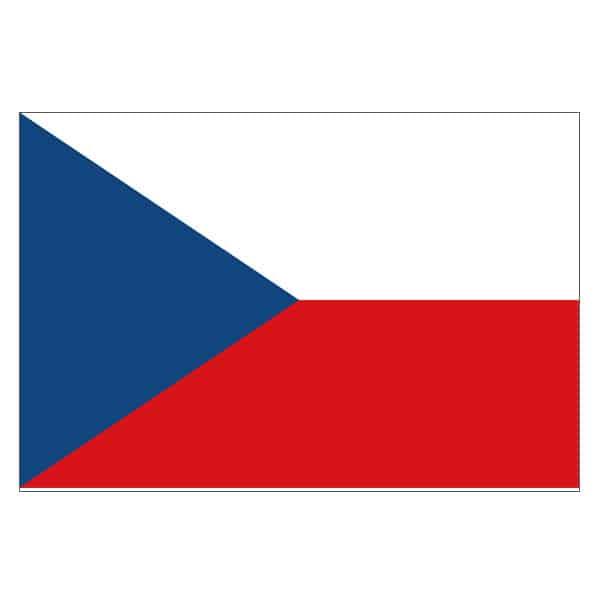 Tjekkiet Polyester Flag 1,5 m x 91 cm - Single