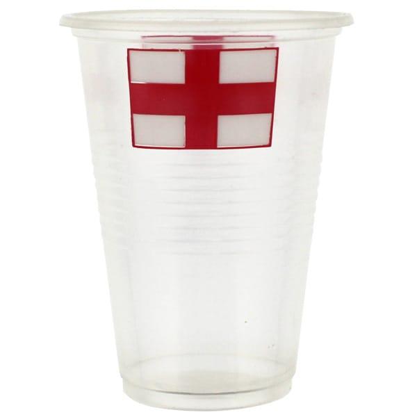 England Flag Plastik Kop - Pakke med 10