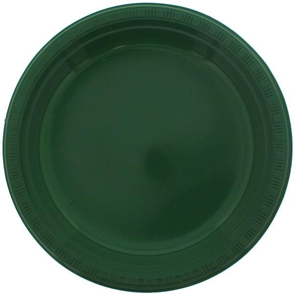 Grøn Plastik Tallerken - Single