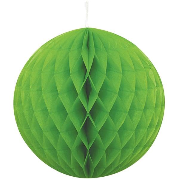 Grøn Vaffelmønster Kugle Dekoration - Single