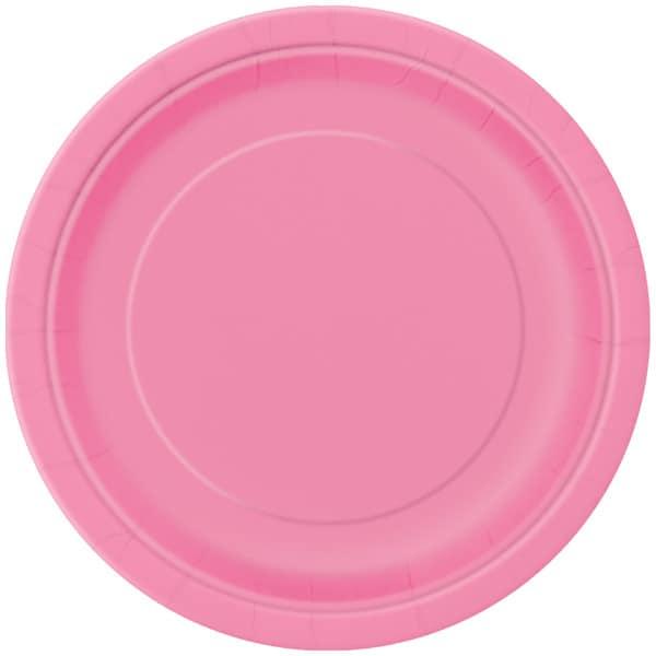Pink Paptallerken 22 cm - Single