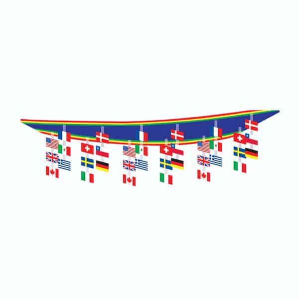 Internationale Flag Loftsdekoration - Single