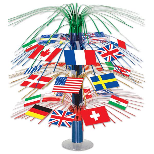 Internationale Flag Kaskade Dekoration - Single