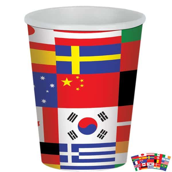 Internationale Flag Pap Kop - Single