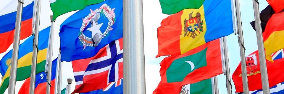 Internationale Flag og Vimpel Guirlander