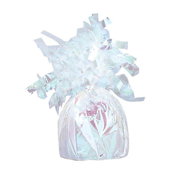 Lille Hvid Iriserende Folieballonvægt - Single