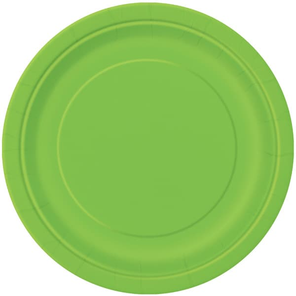Limegrøn Paptallerken 22 cm - Single