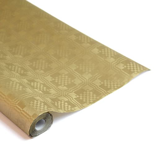Guld Metallic Papirsdug Rulle 8 x 1,2 m - Single