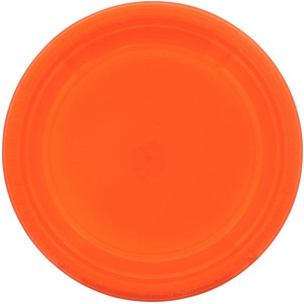 Orange Plastiktallerken - Single