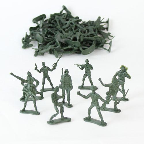 Plastik Militær Soldat - Pakke med 50