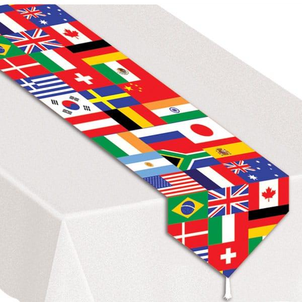 Internationale Flag Bord Løber - Single