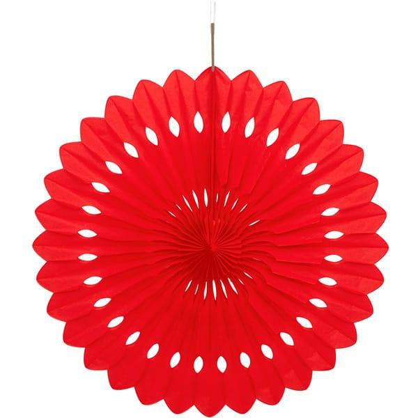 Rød Vaffelmønster Dekoration - Single