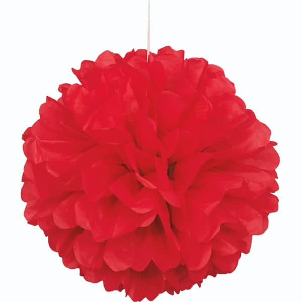Rød Vaffelmønster Kvast Dekoration - Single