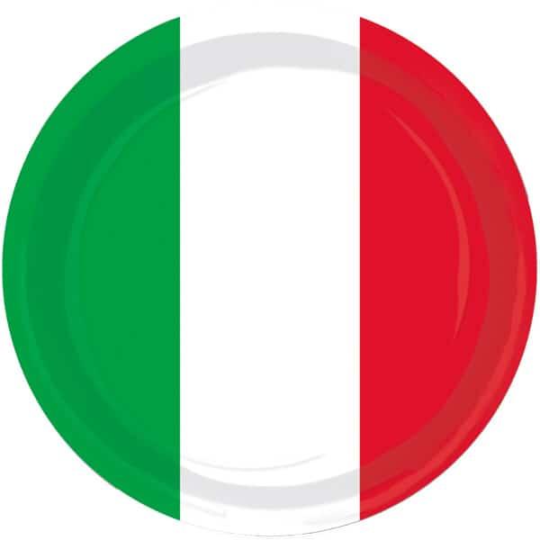Italiensk Tema 23 cm Tallerken - Single