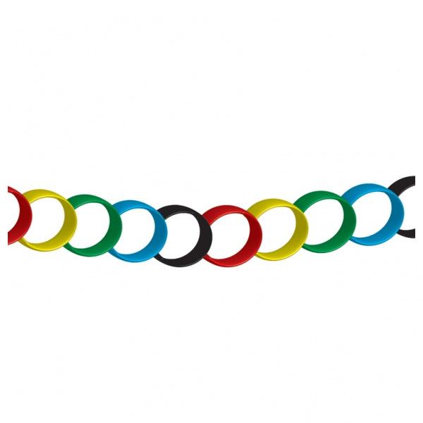 Farverig OL Saml-Selv Guirlande - Pakke med 100 ringe
