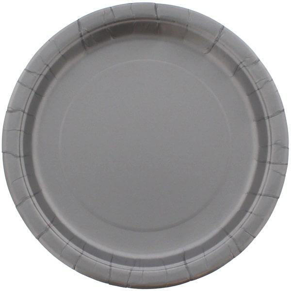 Sølv Paptallerken 22 cm - Single