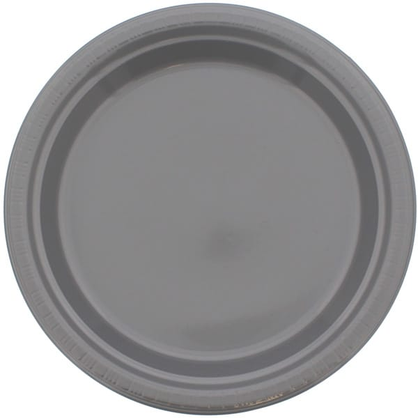 Sølv Plastiktallerken - Single