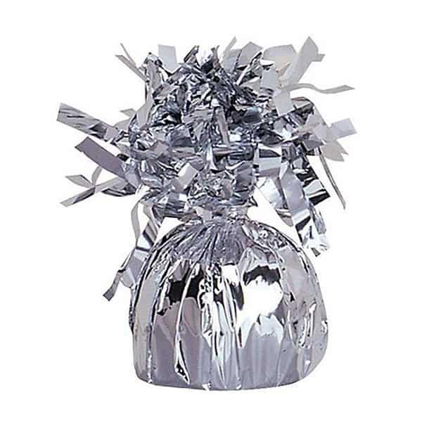 Lille Sølv Folieballonvægt - Single