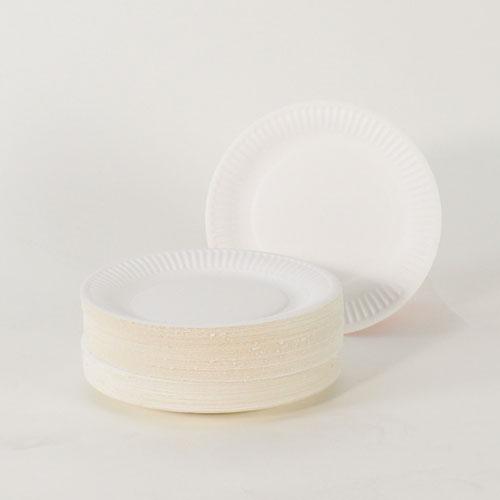 Hvid Pap Tallerken Small - Pakke med 100