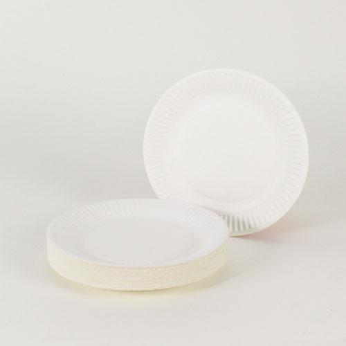 Hvid Pap Tallerken Small - Pakke med 35