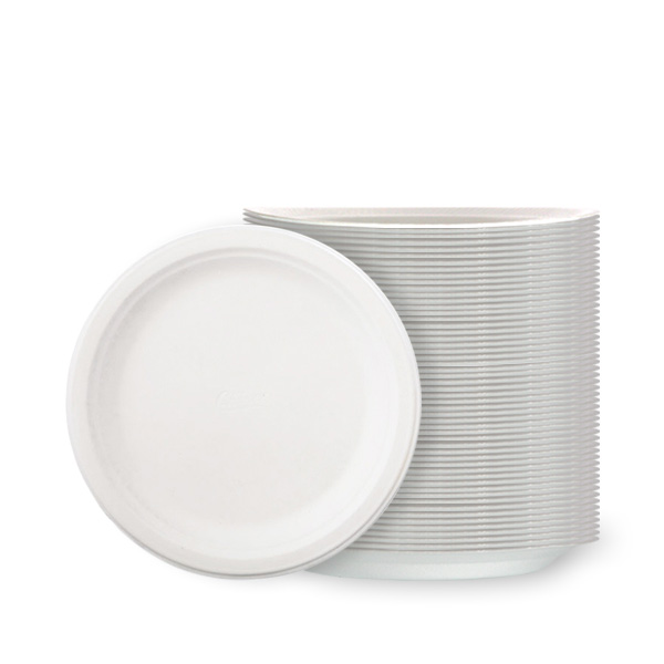 Hvide Polystyren Tallerkener Small - Pakke med 100