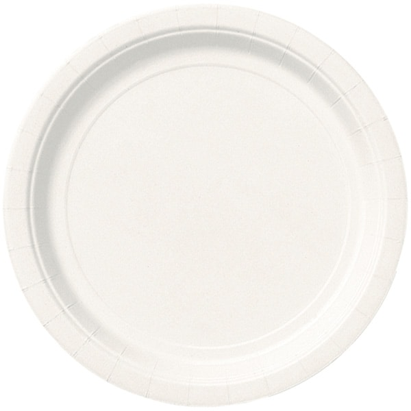 Hvid Paptallerken 22 cm - Single
